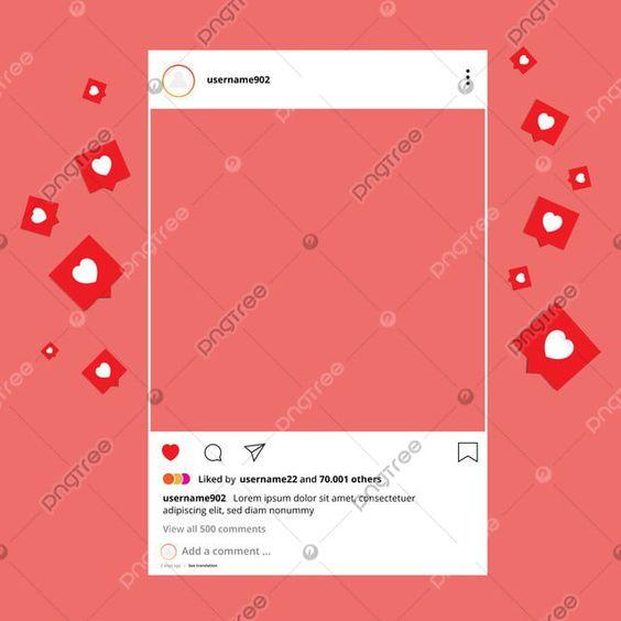 Frame Interface With Love Or Heart Emojis Ig Interface Interface Frame Png Png And Vector With Transparent Background For Free Download Instagram Frame Instagram Logo Instagram Icons