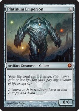 Magic: the Gathering - Platinum Emperion - Scars of Mirrodin $3.00