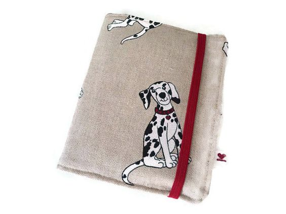 Dog Fabric Passport Cover  Linen Notebook Organizer by Driworks