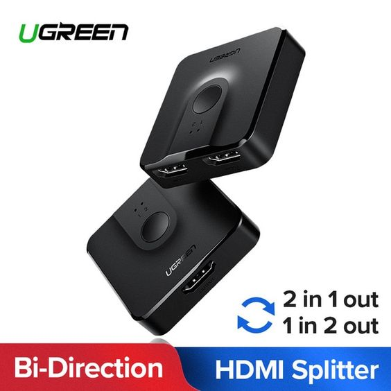 Ugreen Hdmi Splitter Switch Bi Direction 4k Hdmi Switcher 1x2 2x1 Adapter 2 In 1 Out Converter For Ps4 3 Tv Box Hdmi Splitter Review Hdmi Splitter Hdmi Adapter