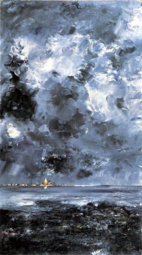 August Strindberg - The Town – painting by Strindberg from 1903