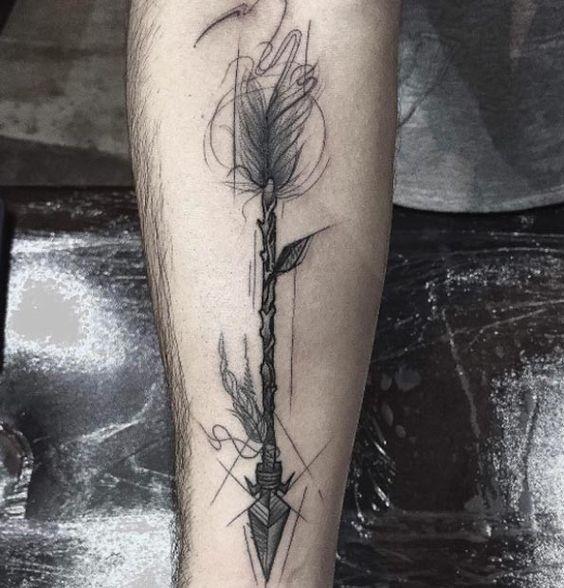 Artistic Arrow Tattoo by Frank Carrilho   tatuajes | Spanish tatuajes  |tatuajes para mujeres | tatuajes para hombres  | diseños de tatuajes http://amzn.to/28PQlav
