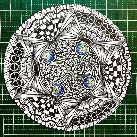Zendala Zentangle Zentangles Zentangled Zendalaart Zentangleart Zentangle Art Zentangleinspiredart Zentan Zentangle Muster Musterkunst Zentangle Kunst