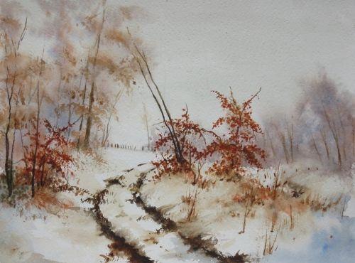 Epingle Par Josiane Cobert Sur Watercolours 15 Arbres En