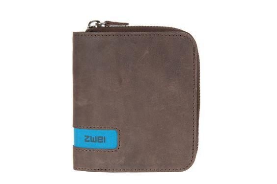 Geldbörsen :: PURSE :: P5   ZWEI Taschen Portemonnaie :: Leder :: braun