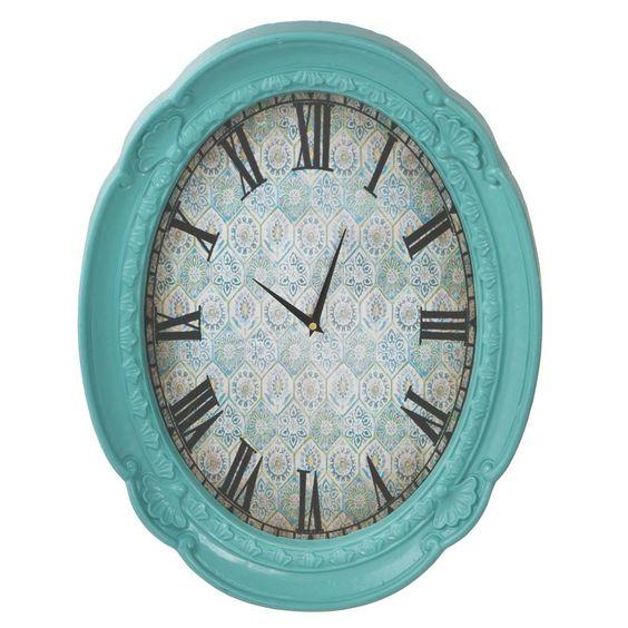 "Oval Ornate Frame 16.74"" Wall Clock"