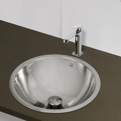 Decolav Hayley 16 1 4 X 16 1 4 Universal Bathroom Sink 1220 P Stainless Steel Bathroom Sink Stainless Steel Bathroom Drop In Bathroom Sinks Stainless steel undermount bathroom sink