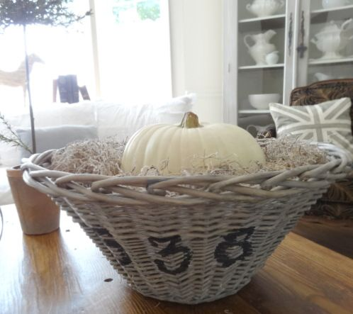 The Essence of Home: White Pumpkins and Grey Paint