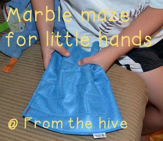From the Hive:  preschool -marble maze (marble sewn into felt in a maze)