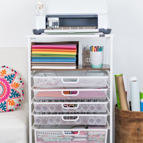 Get Organized And Get Crafty Cricut Crafting Cart Craft Storage Cart Cricut Craft Room Craft Cart