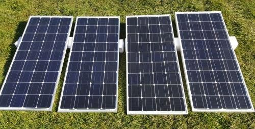 12000 Watt Solar Powered Mega Generator With 60 Amp Charge Controller 4 Panels 4 Batteries Solar Panels Solar Solar Roof
