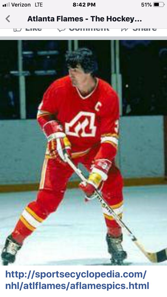 Atlanta Flames Captain Pat Quinn Pat Quinn Hockey Players Atlanta