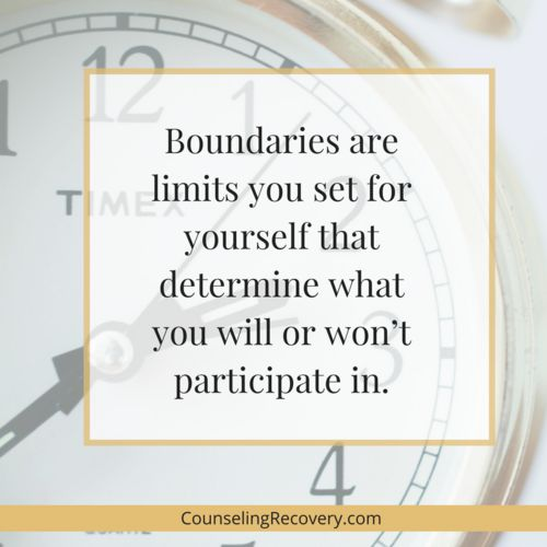 How To Start Setting Boundaries — Counseling Recovery, Michelle Farris, LMFT