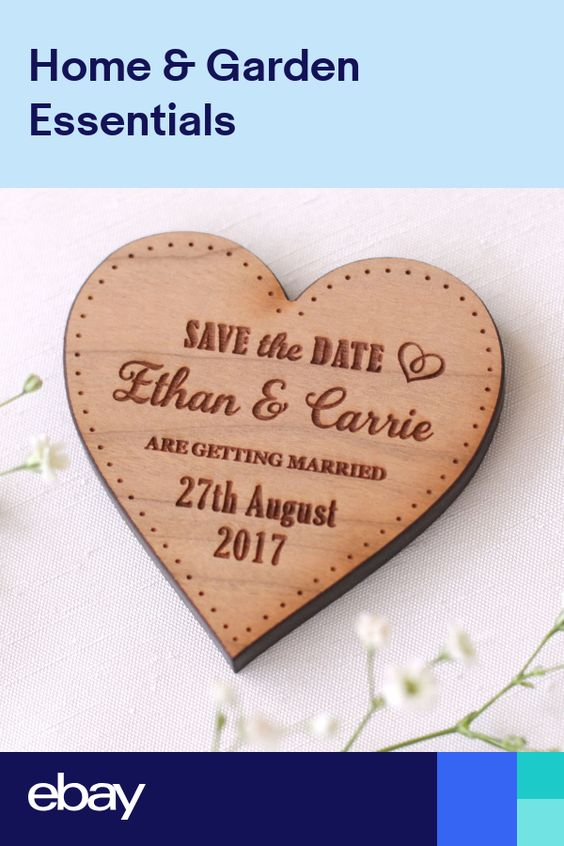 Modern Save the Date set with geometric heart