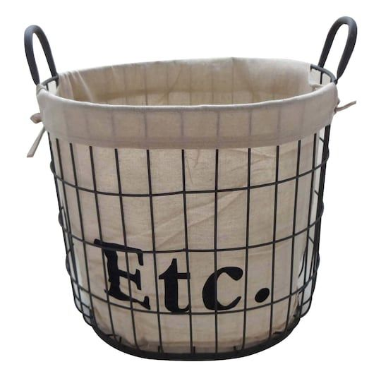 Medium Etc Storage Basket With Liner By Ashland Michaels In