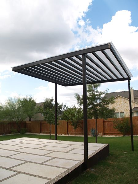 simple steel shade structure | Garden - Patios & Fire ... on Patio Structure Designs id=84455
