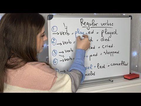 الدرس الماضي البسيط تعلم اللغة الإنجليزية من الصفر للمبتدئين Youtube Crying Verb