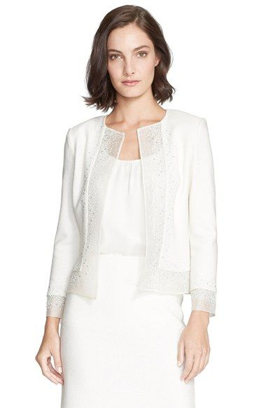 St. John Collection Sequin Embellished Bouclé Knit Jacket available at #Nordstrom