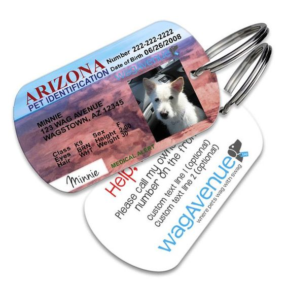 Arizona Driver's License Pet Tag #dogtags #dogaccessories #dogfashion #doglover #doggift #dogs #puppy #pettag #driverslicense #petlicense #dognametag #doglicense #dogdriverslicense #arizona #arizonalicense
