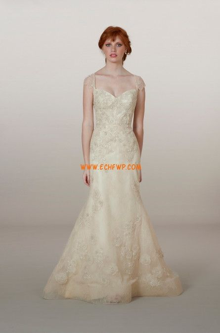 Sirène Traîne moyenne Eté Robes de mariée 2014