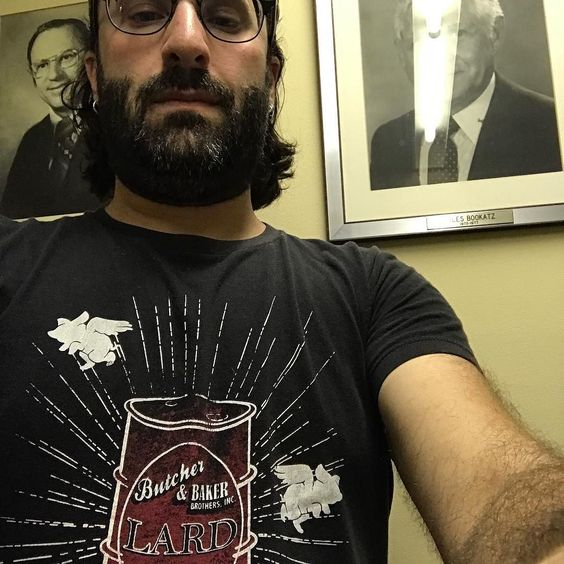 The moment you realize that you're wearing a shirt promoting #lard as you go into a meeting with your #rabbi.