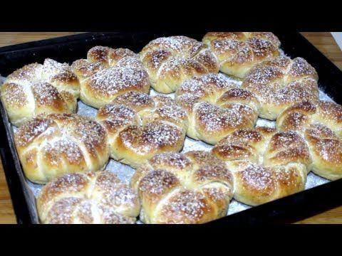 الكعك او البريوش أخف من القطن روووعة في المداق اقتصادي و سهل في التحضير طريقة تحضير بريوش الوردة Youtube Food Desserts Bread