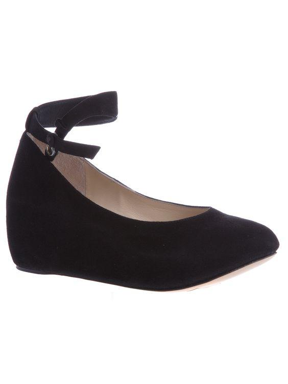 Black suede ballet pump from Chloé. $467
