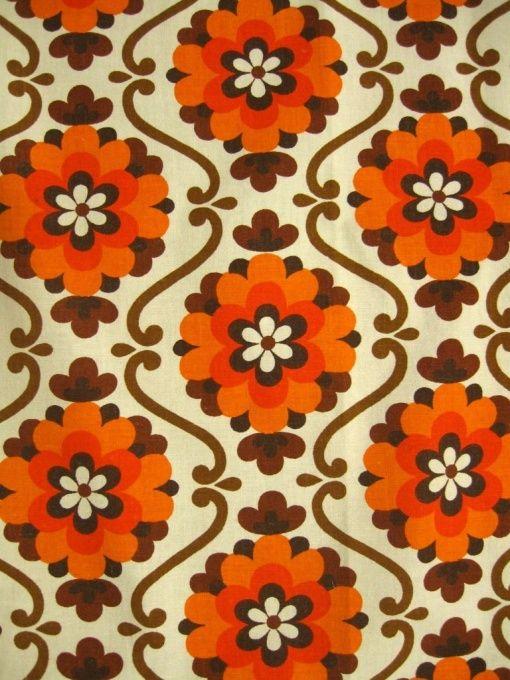 70er Vorhangpaar / floral pattern