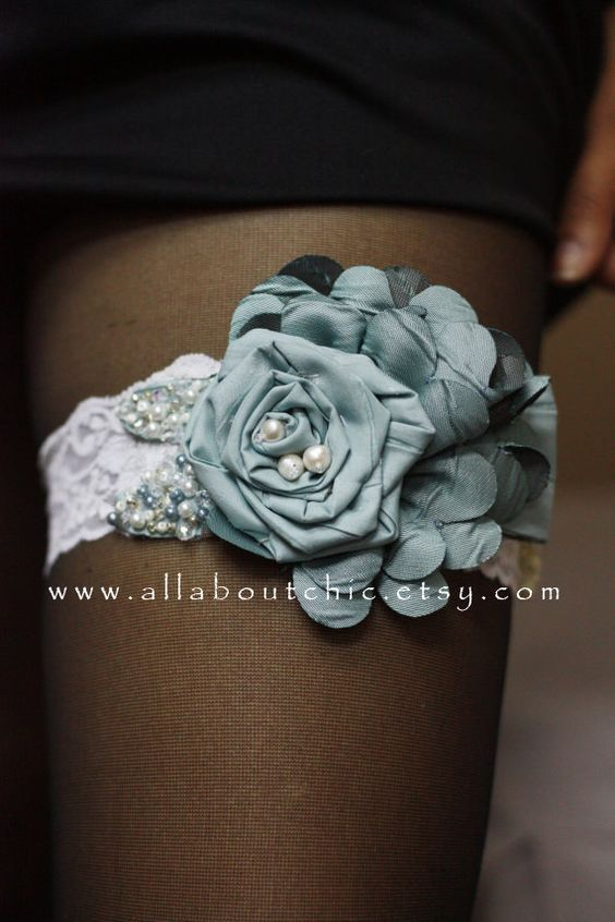Pricila Blue Bridal Garter I'm in LOVE! What a beautiful Garter!
