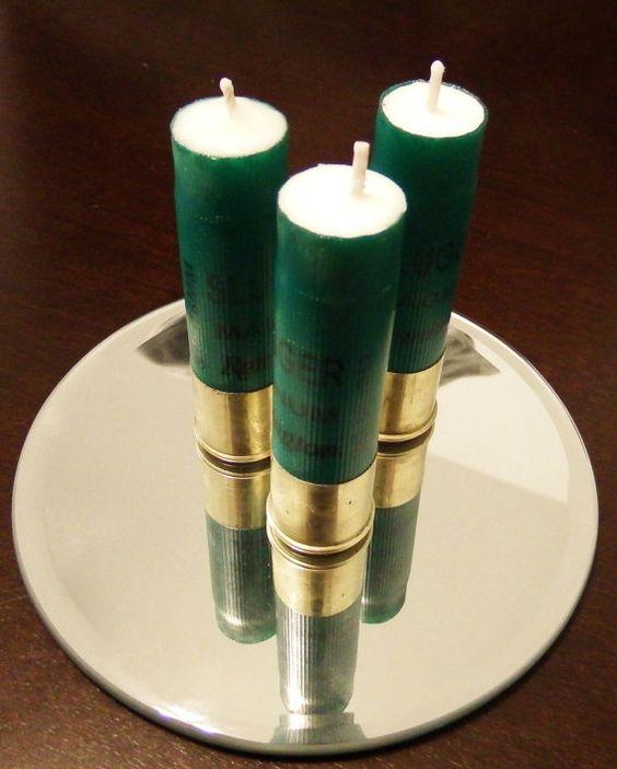 Soy based candles in cased in Slugger Magnum Remington Shotgun ...