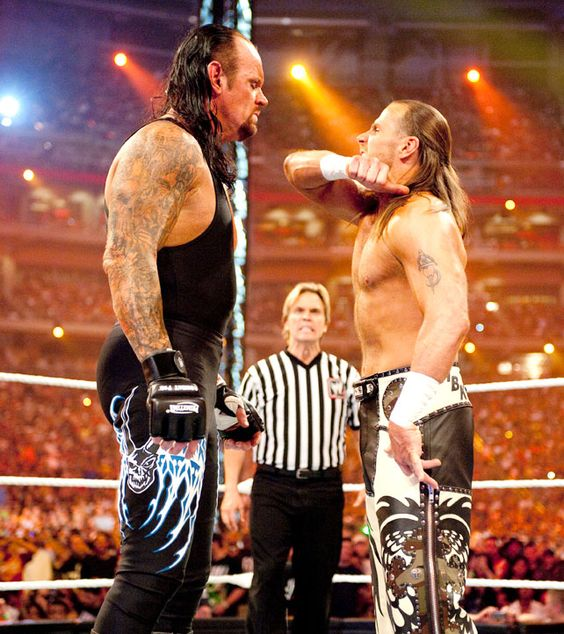 The Undertaker vs Shawn Michaels http://www.youtube.com ...