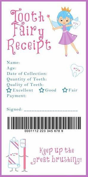Needing a fun thing to do once your child looses his or hers first tooth? What about a Tooth Fairy Receipt? What does the tooth fairy leave your child?