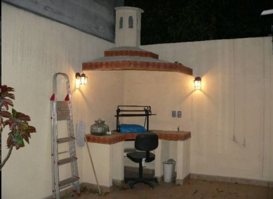 Asador patio pinterest for Asadores para jardin de ladrillo