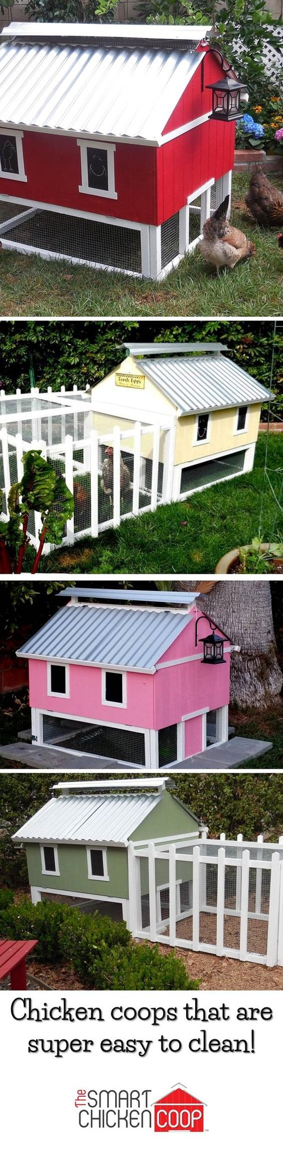 Cute Backyard Chicken Coops : Check out these cute backyard chicken coops! I can paint it to match