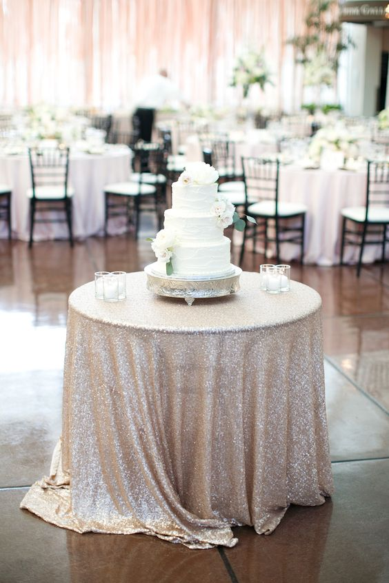 Cake Table Tablecloth Sequins Photography Heather Roth Fine Art Photography