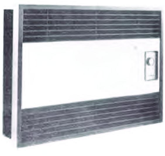 Convector de aquecimento para montagem embebida, da Equipa JF de 1960 até 1961