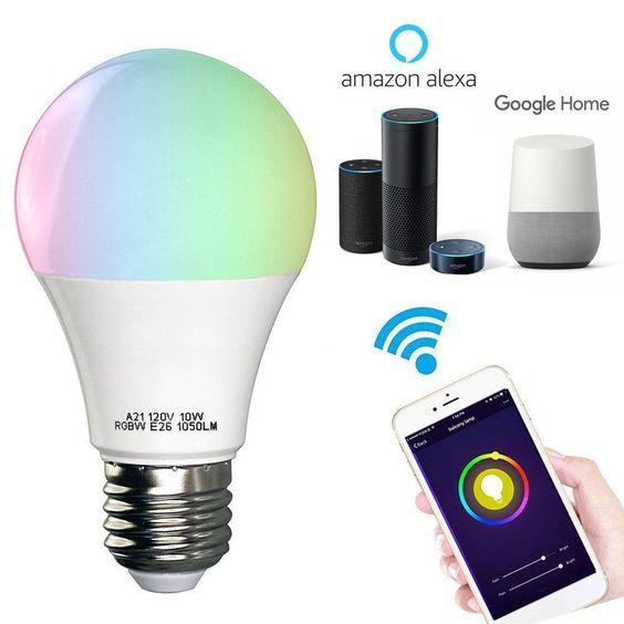 Wifi Smart Multi Color Led Light Bulb For Amazon Alexei Google Home App Control Wifi Magic Lights Alexa Smart Smart Light Bulbs Bluetooth Light Smart Lighting