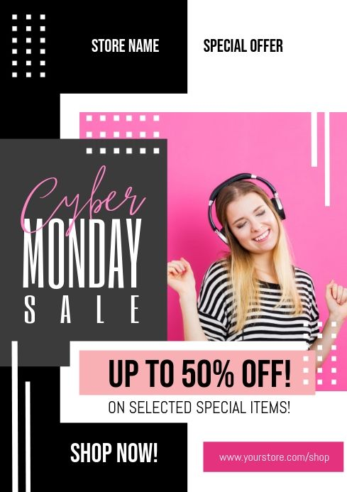 Cyber Monday Sale Flyer In 2020 Cyber Monday Flyer Flyer Business Flyer Templates
