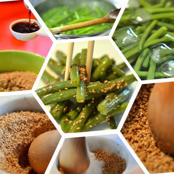 Fagiolini croccanti con salsa di sesamo