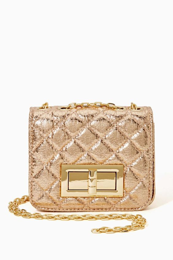 Elysian Quilted Clutch in Don't Miss Shiny at Nasty Gal