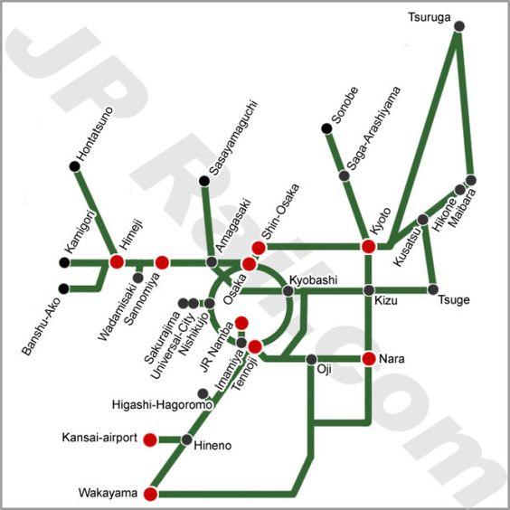 Kansai Area pass map