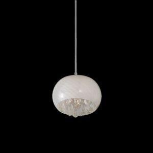 PENDENTE HU6222 -BELLA Cód. do produto: 8403147 Código: 8403147 Ref. do produto: HU 6222 Pendente para 1 lâmpada halógena soquete G9 até 40W. Produzido em vidro e pingentes em cristal.