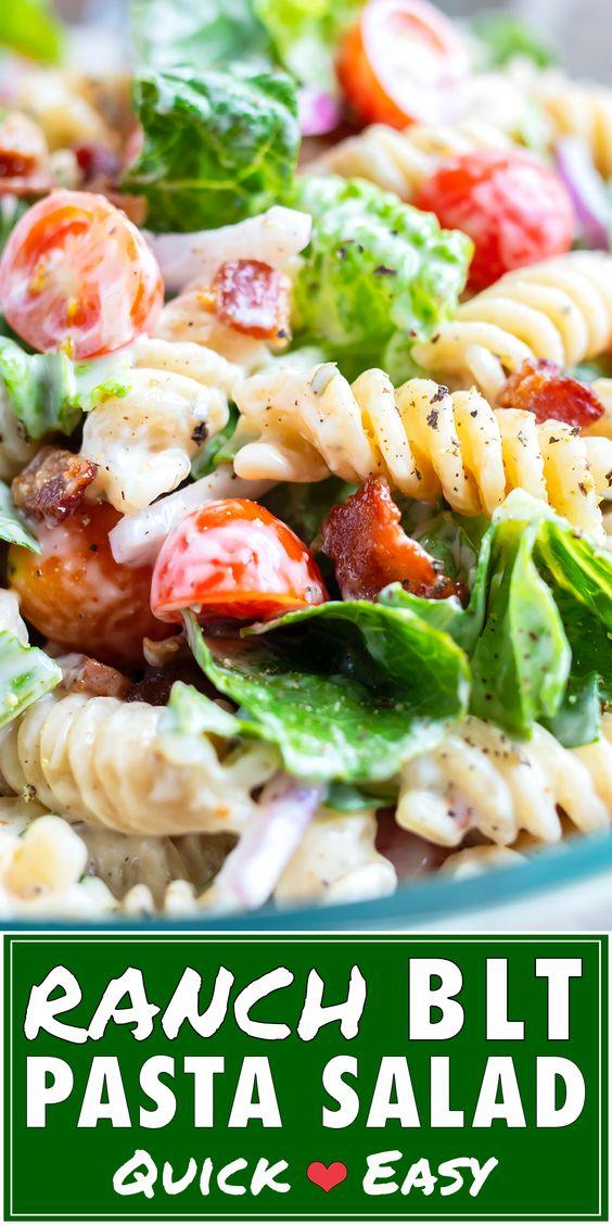 BLT Pasta Salad   Quick & Easy