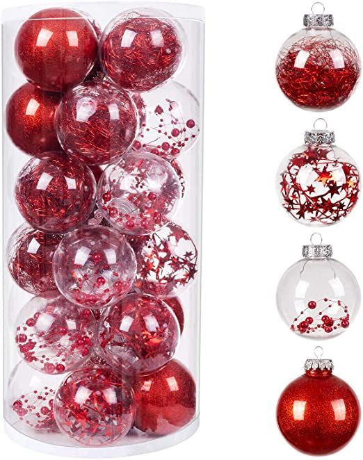 Bestwishes 24pcs Christmas Balls Ornaments 7mm 2 76 Quot Small Shatterproof Christmas Baubles For Christmas Baubles Christmas Balls Wedding Party Decorations