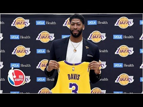 Anthony Davis Introduced By The Los Angeles Lakers Nba Youtube Anthony Davis Los Angeles Lakers Nba Youtube