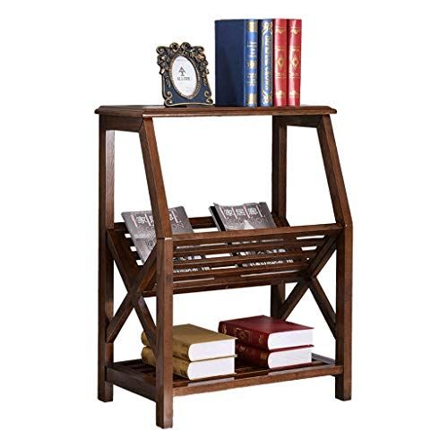 Magazine Rack Vertical Bookcase Solid Wood Magazine Rack Living
