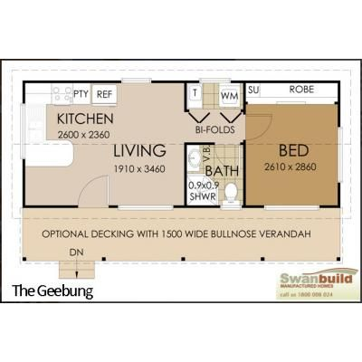 Granny flats by swanbuild manufactured homes small space for Granny house plans
