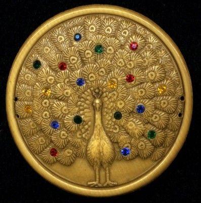 Brass Peacock Button: