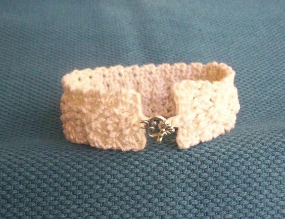 CrochetDad Ramblings: Crocheted Cables Bracelet/Cuff