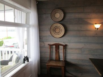 Shiplap Stained In A Transparent Water Based Stain In A